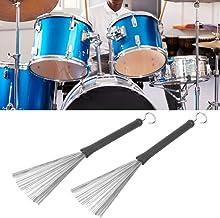 Escova de tambor, escova de borracha para varetas de tambor, para bateristas iniciantes