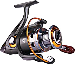 Sougayilang Spinning Fishing Reels with Left/Right Interchangeable Collapsible Wood Handle Powerful Metal Body 5.2:1/5.1:1...