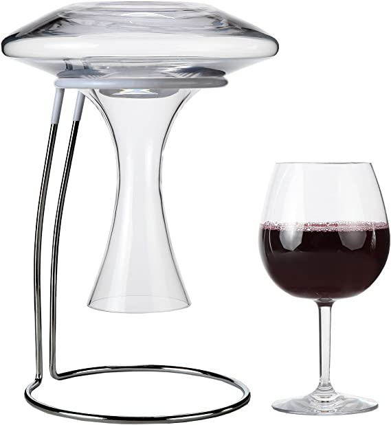 Lily's Home Wine Decanter Drying Stand with Rubber Coated Top to Prevent Scratches