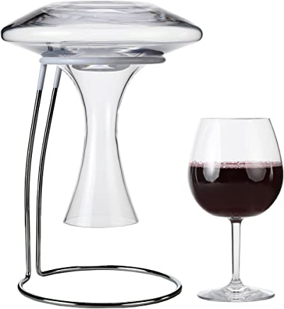 featured product Lily's Home Wine Decanter Drying Stand with Rubber Coated Top to Prevent Scratches,  Includes Cleaning Brush,  For Standard Large Bottomed Wine Decanters,  Decanter and Wine Glass NOT Included