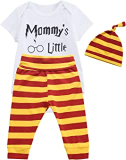 3PCS Outfit Set Baby Boys Girls Short Sleeve Bodysuit