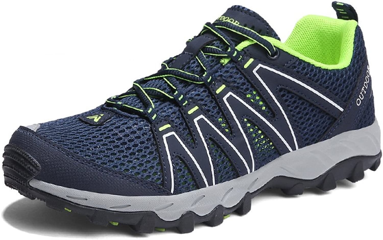 YongBe Men's Hiking shoes Lightweight Waterproof Mesh Low Help Lace Up Walking Explorer Sneakers