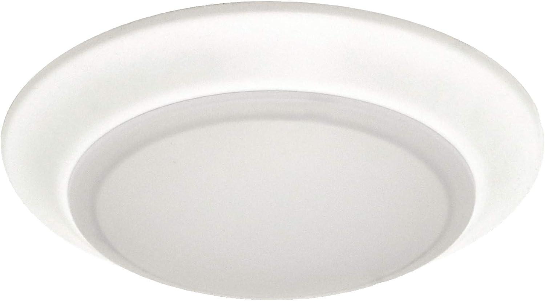 6 inch LED Disk Light Surface Mount or Junction Box Mount Low Profile Flush Mount Ceiling Light 3000k Warm White 750 Lumens, Dimmable, Shower Closet Light (3000K 1PK)