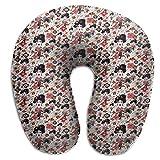 Almohada de espuma viscoelástica para el cuello, Geisha en el jardín lluvioso, almohada de viaje ligera para la siesta