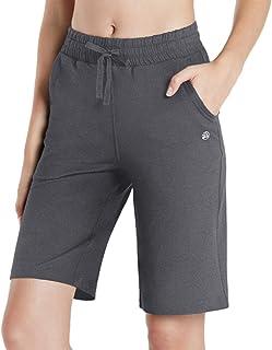 TSLA Women's Lounge Shorts, Soft Comfy Sleep Pajama Shorts, Casual Elastic Waist Sweat Shorts with Pockets
