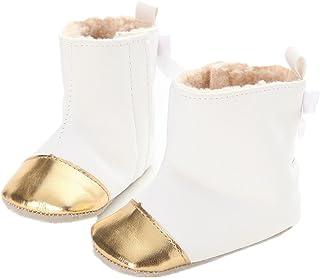 [L-Peach] 赤ちゃん 女の子 秋冬ブーツ おしゃれなキッズファーストシューズ 新生児靴 温かいムートン仕様 防水防寒 ウォーキングシューズ 幼児 滑り止め ベビールーム靴 出産祝い