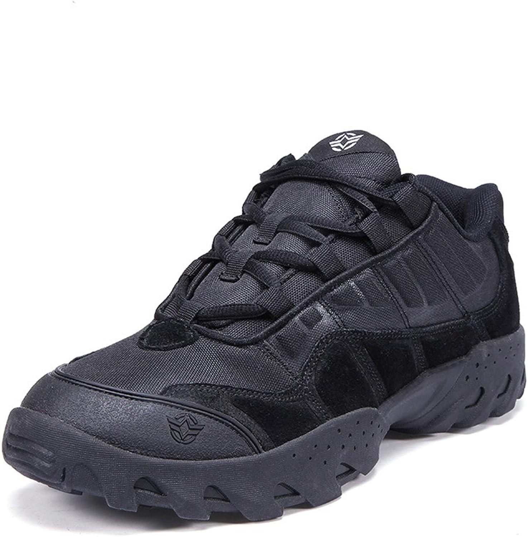 Emansmoer Herren Wasserdicht Atmungsaktiv Outdoor Sport Wandern Trekking Schuhe Low-top Lace-up Non-Slip Komfort Turnschuhe