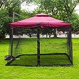 BIUYYY Moustiquaire de Parasol de Jardin avec Fermeture éclair Polyeste pour Parasol de Table Noir...