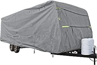 SUMMATES Travel Trailer Cover RV Cover,Color Gray, 3 Layer Polypropylene Fabric, 288
