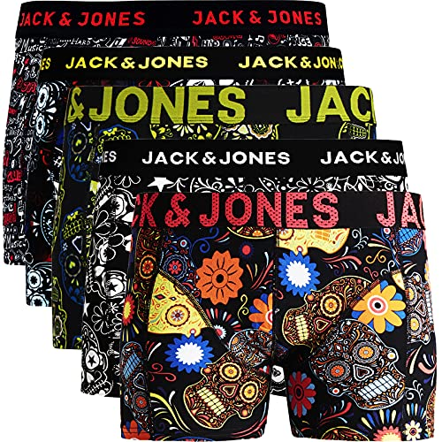 JACK & JONES Trunks 5er Pack Boxershorts Boxer Short Unterhose Mehrpack (M, 5er Pack Bunt 15 ohne Wäschesack)
