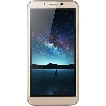 Teléfono celular desbloqueado, 5.5 pulgadas, ultrafino, Android 6.0 Octa-Core 512 MB + 4 GB GSM 3G WiFi Dual SIM Dual cámara Smartphone, Dorado, 1