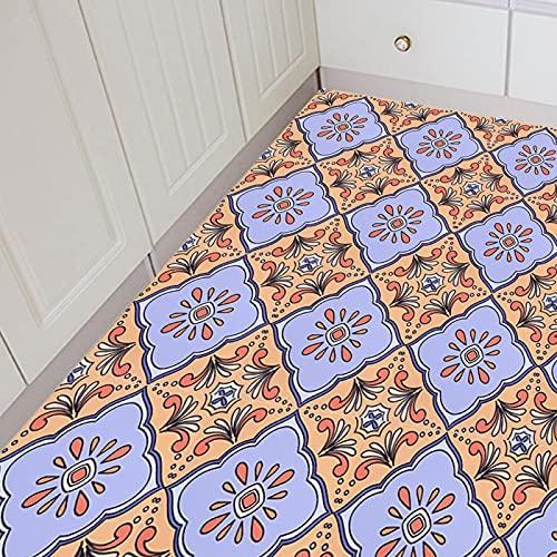 Azulejos autoadhesivos pegatina impermeable antideslizante suelo removible decotation para Homer Kitchen(Style 5)