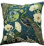 Funda de cojín con diseño de mariposas y flores, color verde...