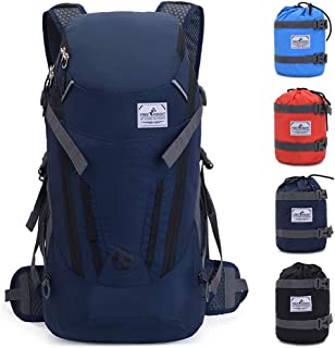 VEVESMUNDO 30L Hiking Backpack Packable Lightweight Waterproof Foldable Daypack with Hydration for Men Women for Climbing Camping Cycling Bicycle Travel
