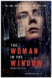 Film kvinnan i fönstret kanvas affisch sovrum dekor sport landskap kontor rum dekor gåva oram; 50 × 75 cm (20 × 30 tum)