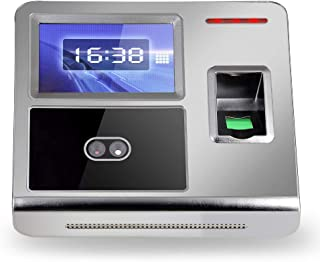 Custom Business Cards Employee Attendance Machine Facial Fingerprint Password Sign in Salary Recorder DC 12V Facial Recogn...