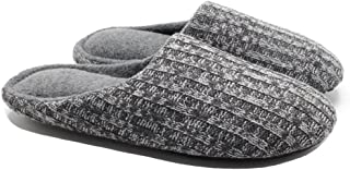 ofoot Women's Indoor Slippers,Cashmere Knit Warm Fleece Lined Thick Padded Memory Foam Anti-Skid Slip on Shoes