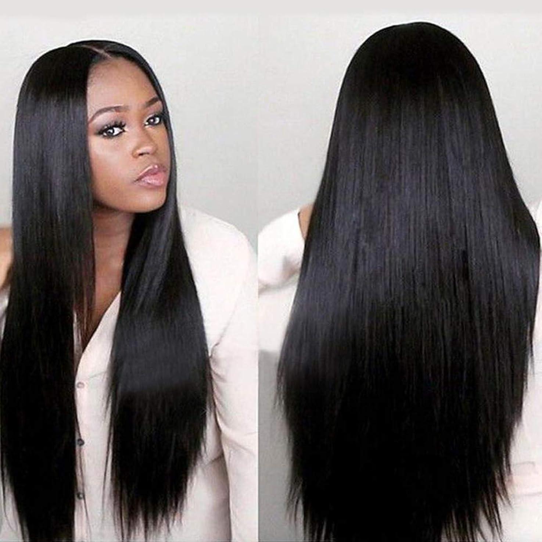 予測明らかにするペフslQinjiansav女性ウィッグ修理ツール女性黒ロングストレートレースフロントローズネット人間の髪の毛ウィッグナチュラルヘアピース