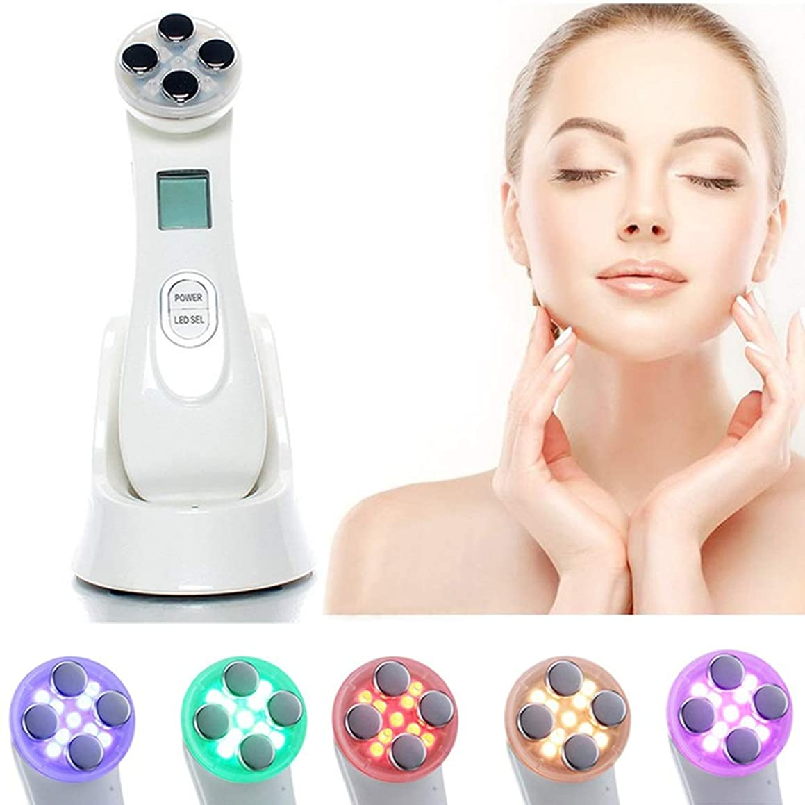 退屈な反発脊椎RF美容機、高周波フェイシャルマシン、アンチエイジングフェイスリフティング用のEMSスキンケアデバイスしわ除去フェイスを締めますボディとフェイス美容デバイス用のスキンケアを締めます