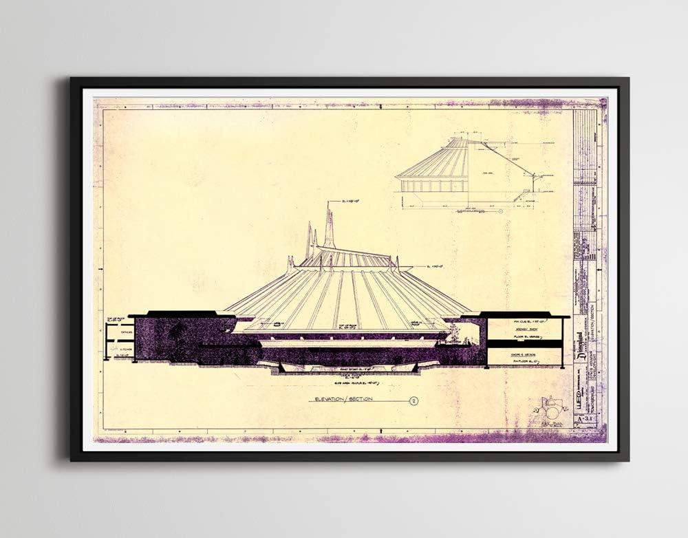 Disneyland Space Mountain Blueprint  3063