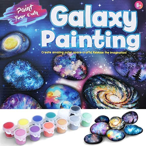 MITCIEN Galaxy Rock Painting Kit for Kids Rock Painting Arts and Craft Kit for Boys Girls Includes product image