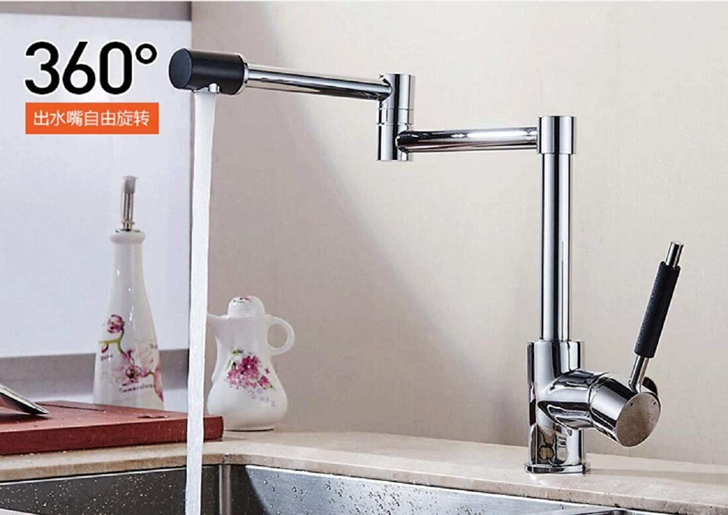 Kitchen Tap Main Folding Dishwasher Universal Sink redary Kitchen Cold and Hot Water Faucet Kitchen Taps Kitchen Sink Mixer Taps Basin Tap