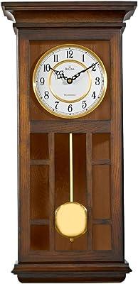 Bulova C4337 Mayfair Chiming Wall Clock Walnut