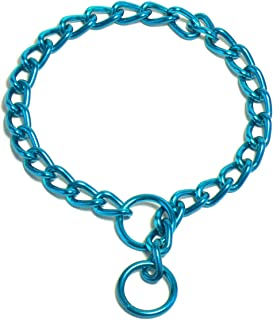 Platinum Pets 4mm Coated Chain Dog Collar 26-Inch, Caribbean Teal