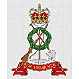 Royal Pioneer Corps inicial Cap Badge Juego de punto de cruz por Elite diseños