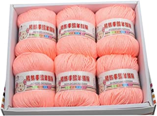 Lidahaotin Multi Color Chaud Bricolage Lait de Fil de Coton Pull bébé Fil à Tricoter Enfants tricoté Main en Tricot Crochet Blanket Fil inuline