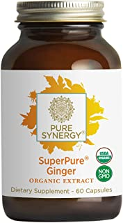 Pure Synergy Organic SuperPure Ginger Extract (60 Capsules) w/Shogaols & Gingerols