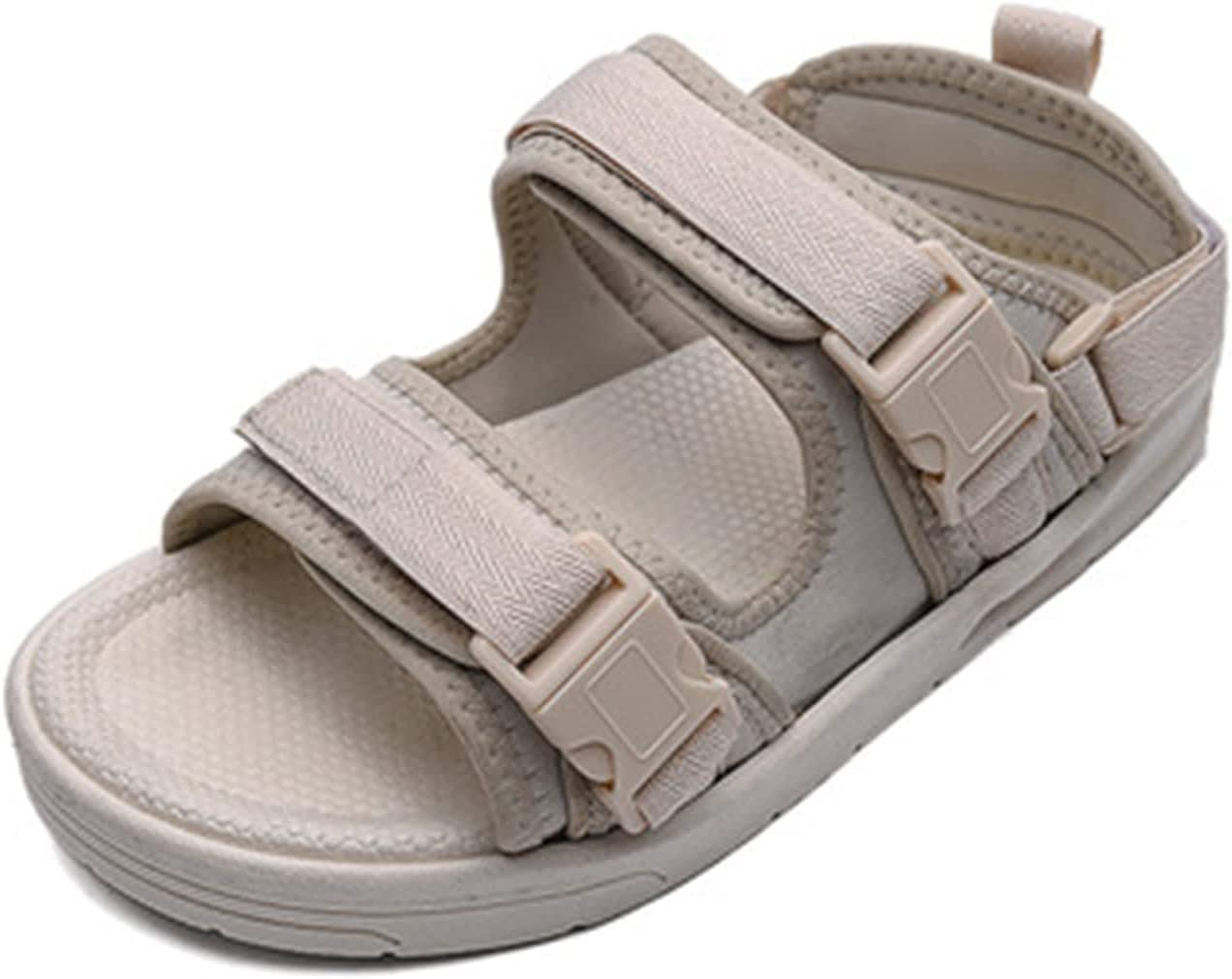 Men's Sandal Beach Shoes Women's Outdoor Hiking Walking Sandals Comfortable Athletic Sports Light Shoes Elegant Open Toe Thick Bottom Shoes (Color : Beige, Size : 44)