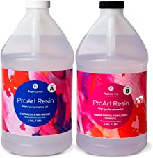 ProMarine Supplies Art Resin – 1 Gal Pro Art Resin Kit – Art Resin Epoxy Clear – Easy to Use – High Gloss Intense Shine – Ideal for Photography, Wood, Artwork