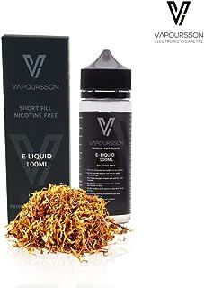 Vapoursson 100ml Gold Tabaco 0mg E-Liquido   Shortfill botellas sin nicotina   50/50 PG/VG - Sabores reales y fuertes   Para E-shisha y E-cigarrillos   Eliquido