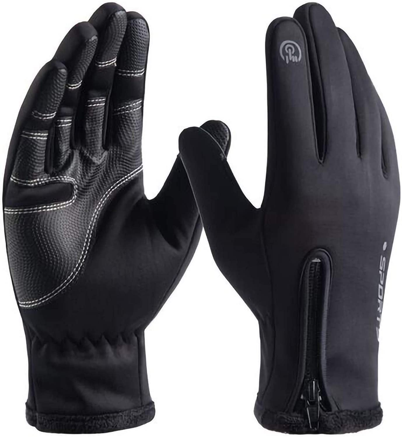 Winter Warm Gloves for Men and Women Touch Screen Anti-Slip Windproof Outdoor Riding Sport Plush Mountaineering Ski Gloves