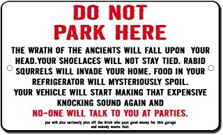 Fastasticdeals No Parking Curse Novelty Funny Metal Sign 8 in X 12 in