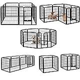 Parc/enclos pliable pour chiot/lapin/animal de compagnie à 8 panneaux métalliques robustes (80 x 80 cm) Milo & Misty