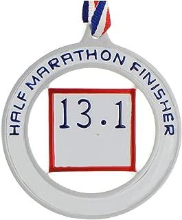 Personalized Half Marathon Medal Christmas Tree Ornament 2019 - Runner Athlete Jog Boy Girl Professional Amateur First Run Milestone London Berlin Tokyo Speed Memory Gift Year - Free Customization