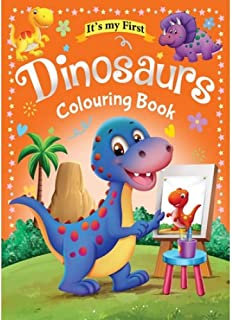 Colouring Book 64 Pages size 28 X 21.6 cm Made in Malaysia (Dinosaurs)