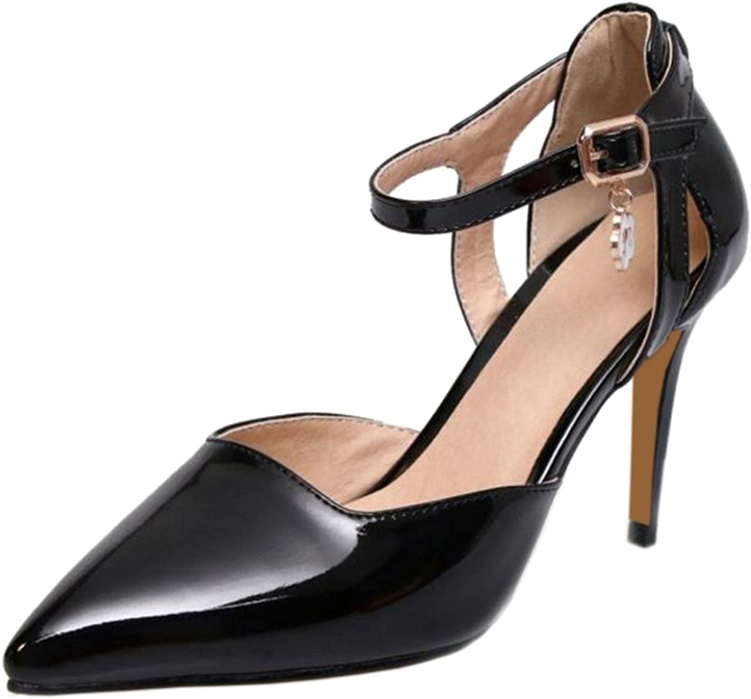 Cocey Women Elegant Sandals with Pointed Toe and Stiletto for Office Ladies