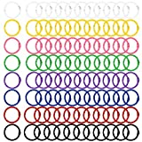 BSTKEY - 96 anillas de metal de 30 mm (8 colores distintos) para...
