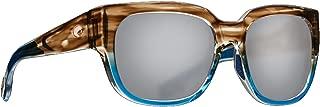 Costa Waterwoman WTW251OSGP Womens Matte Tortoise Frame Silver Lens Wrap Sunglasses