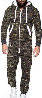 comprar comparacion JiaMeng Mono Unisex Prenda de una Pieza Sin pie Pijama Traje Blusa Sudadera Abrigo de Traje de Invierno para Hombre Invierno