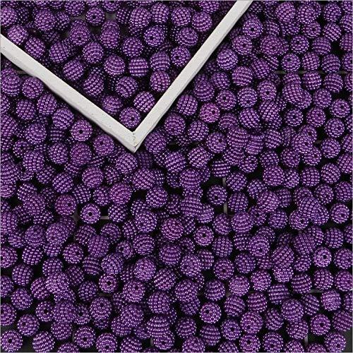 ZNYD 10mm 50pcs Accesorios Granos de acrílico de los Granos DIY Bayberry Material Hecho a Mano del Pelo Accesorios Headwear (Color : 15)