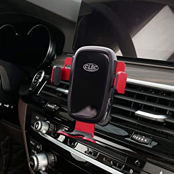 Beerte Phone Holder fit for Audi A6 2018 2017,Adjustable Air Vent,Car Dashboard Cell Phone Mount,Wirless Charging Phone Mount fit for Any inches iPhone Samsung Smartphone