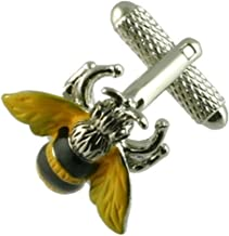 Cuff links Bumble Bee Honey Cufflinks~Animal Cufflinks + Hand Made Black Pouch