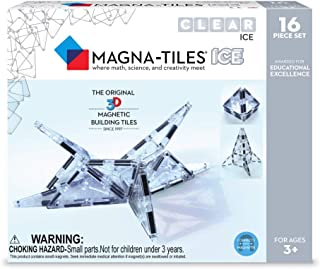 Magna Tiles Ice Set, The Original, Award-Winning Magnetic Building Tiles, Creativity & Educational, Stem Approved, Translucent