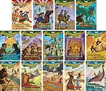 Imagination Station Series - Adventures in Odyssey - Set of 14 - Volumes #1-14 Including Captured on the High Seas the Redcoats Are Coming Danger on a Silent Night Hunt for the Devil s Dragon Challenge on the Hill of Fire and More