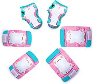 OutdoorMaster Kids/Youth Protective Gear - Knee Pads Elbow Pads Wrist Guard 6-in-1 Set for Bike, Cycling, Roller Skating, ...
