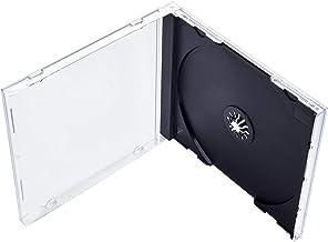 Maxtek 10.4 میلیمتری استاندارد تک تک CD Jewel Case با سینی سیاه و سفید مونتاژ، 100 بسته